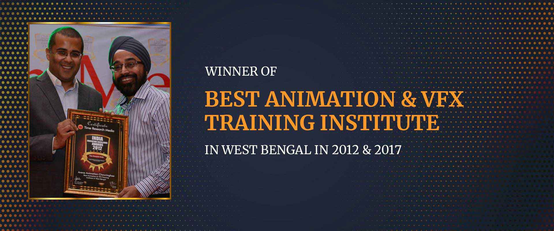 Awarded as the best animation and VFX training institute